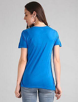 GAP Short Sleeve Star Glitter Logo T-Shirt
