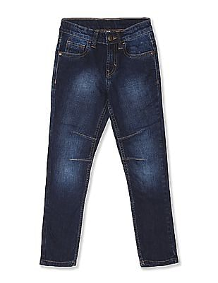 FM Boys Blue Boys Skinny Fit Faded Jeans
