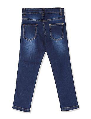 Colt Blue Boys Mid Rise Whiskered Jeans