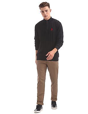 U.S. Polo Assn. Denim Co. Cable Knit Half Zip Sweater