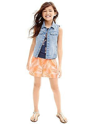GAP Girls Tropical Leaf Soft Shorts