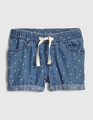 GAP Blue Toddler Girl Star Denim Pull-On Shorts