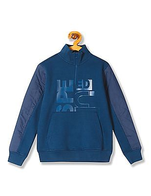 FM Boys Boys Quilted Panelled Sweatshirt