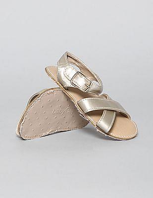 GAP Baby Metallic Criss-Cross Sandals