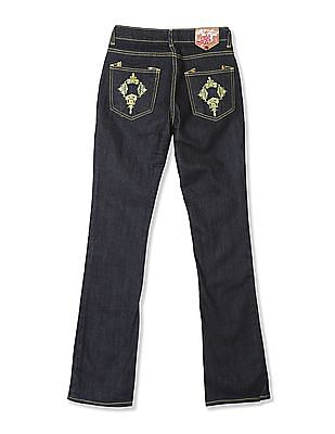 Flying Machine Women Bootcut Dark Wash Jeans
