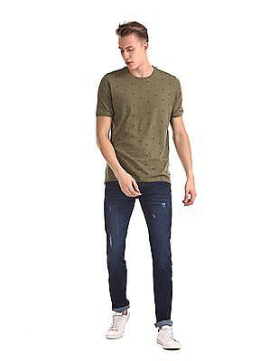 Cherokee Blue Distressed Slim Fit Jeans