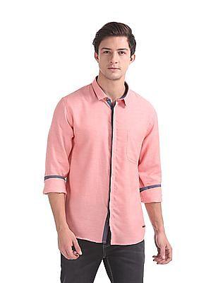 Cherokee Contemporary Regular Fit Patterned Shirt