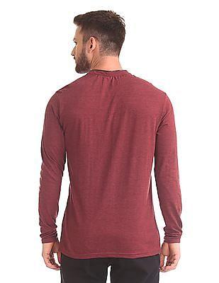 Cherokee Long Sleeve Henley Neck T-Shirt