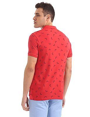 Bayisland Dolphin Print Cotton Polo Shirt