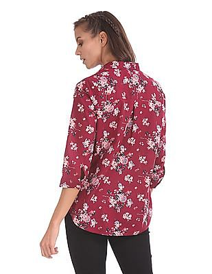 Cherokee Notched Neck Boxy Top