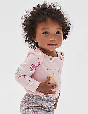 GAP Baby Print Long Sleeve Bodysuit