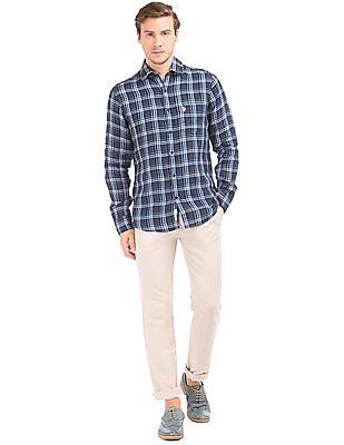 U.S. Polo Assn. Check Linen Shirt