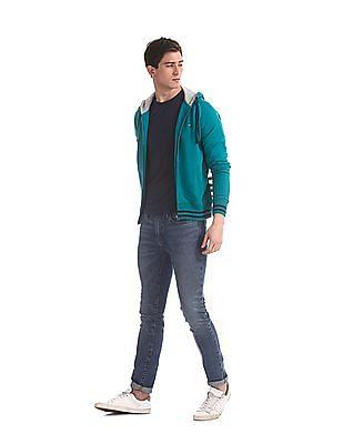 Arrow Sports Green Hooded Zip Up Sweatshirt