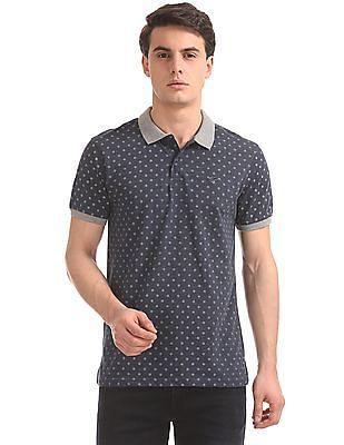 Ruggers Printed Heathered Polo Shirt