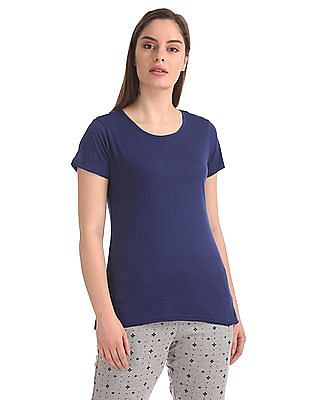 SUGR Solid Round Neck T-Shirt