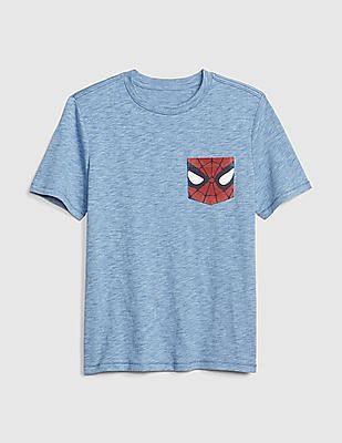 GAP Blue Boys Marvel© Short Sleeve T-Shirt