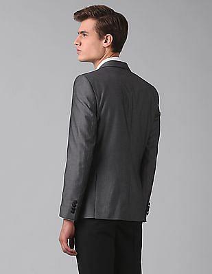 True Blue Slim Fit Patterned Blazer