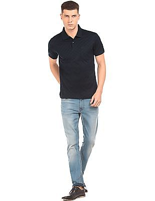 Arrow Regular Fit Jacquard Polo Shirt