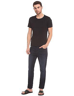 True Blue Dark Wash Tapered Fit Jeans