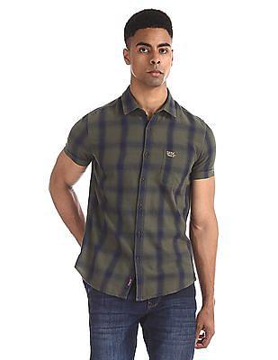 U.S. Polo Assn. Denim Co. Green Slim Fit Check Shirt