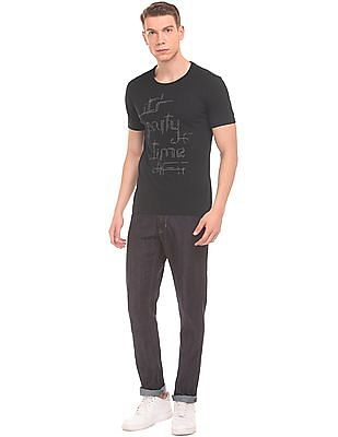 Flying Machine Printed Slim Fit T-Shirt