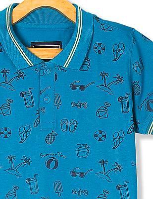 Cherokee Boys Printed Pique Polo Shirt