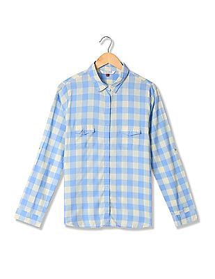 U.S. Polo Assn. Women Standard Fit Check Shirt