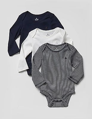 GAP Baby Favorite Long-Sleeve Bodysuit - Pack of 3