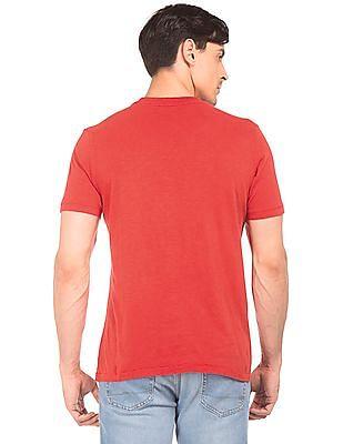 Aeropostale Contrast Print Slubbed T-Shirt