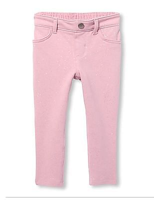 The Children's Place Toddler Girl Sparkle Knit Jeggings