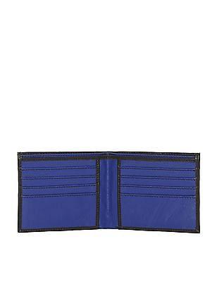 Flying Machine Black Bi-Fold Leather Wallet