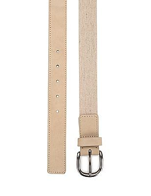 Nautica Textured Leather Trim Belt