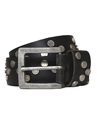 Flying Machine Embellished Leather Belt