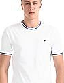 Ruggers White Crew Neck Tipped T-Shirt