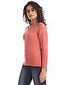 Flying Machine Women Full Sleeve V-Neck Sweater