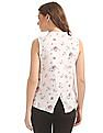 SUGR Floral Print Cross Over Back Top