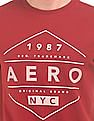 Aeropostale Printed Front Crew Neck T-Shirt