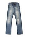 Flying Machine Blue Slim Straight Fit Stone Wash Jeans