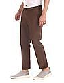 Ruggers Brown Tapered Fit Printed Trousers