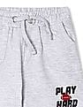 Donuts Boys Drawstring Waist Heathered Shorts
