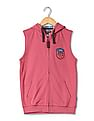 U.S. Polo Assn. Kids Boys Hooded Sleeveless Sweatshirt