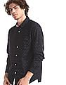 Roots by Ruggers Blue Microphone Print Cotton Shirt