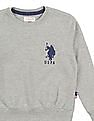 U.S. Polo Assn. Kids Boys Solid Crew Neck Sweatshirt