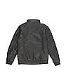 U.S. Polo Assn. Kids Boys Stand Collar Faux Leather Jacket