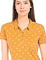 Flying Machine Women Printed Regular Fit Polo Shirt