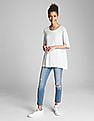GAP Women White Short Sleeve Crewneck T-Shirt
