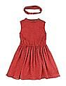 Cherokee Girls Fit And Flare Dress With Headband