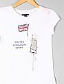 GAP Girls White Athletic Flag Graphic Tee
