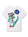 The Children's Place Boys White Short Sleeve Printed T-Shirt