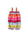 The Children's Place Baby Girls Sleeveless Striped Smocked Romper